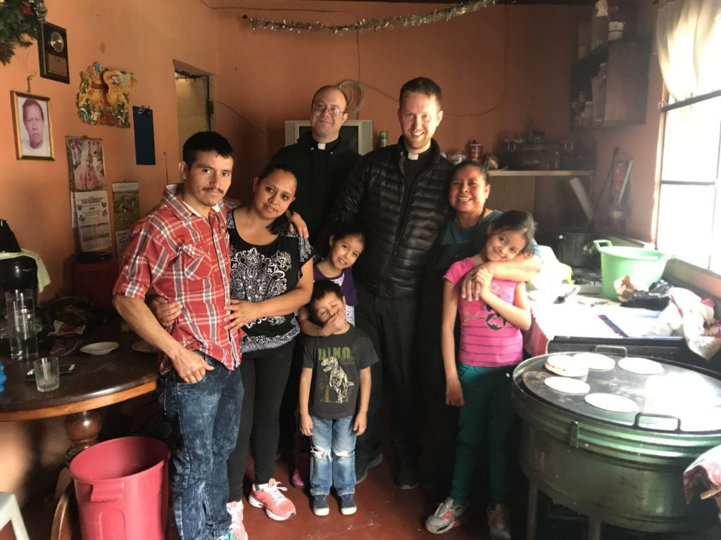 Father Josh and Father Daniel visited and blessed the homes of families from Escuela Integrada during their visit in January of 2018.
