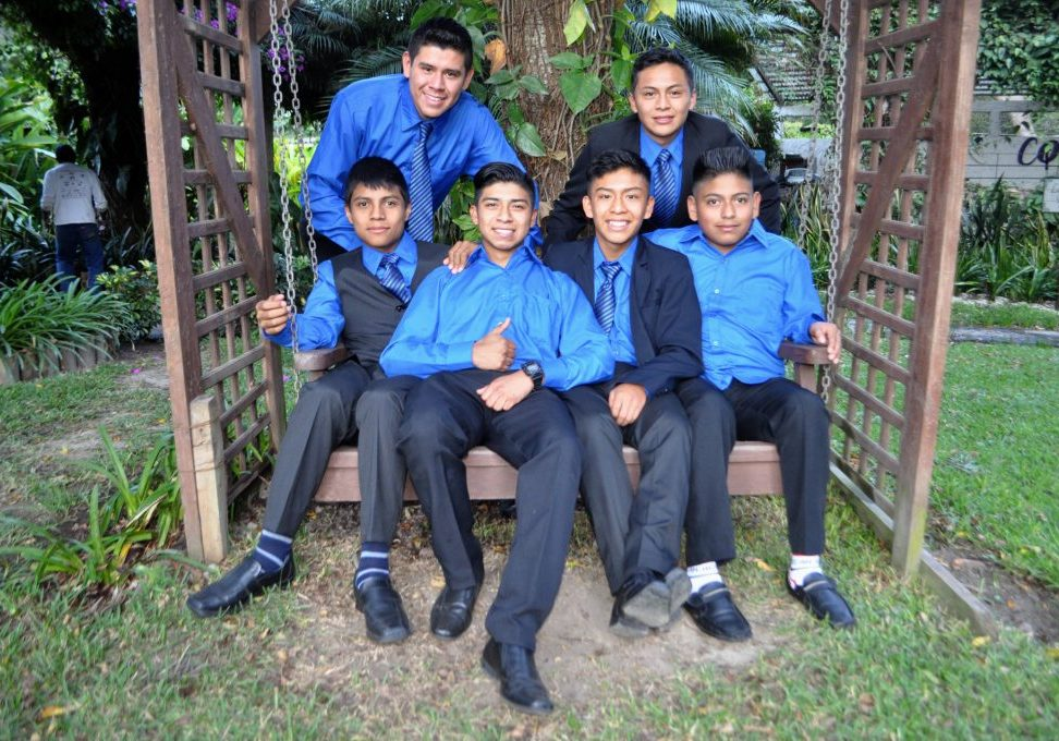 Boys from the 2017 9th grade class celebrated their graduation at Hotel Real Plaza in Antigua on Nov. 9, 2017.