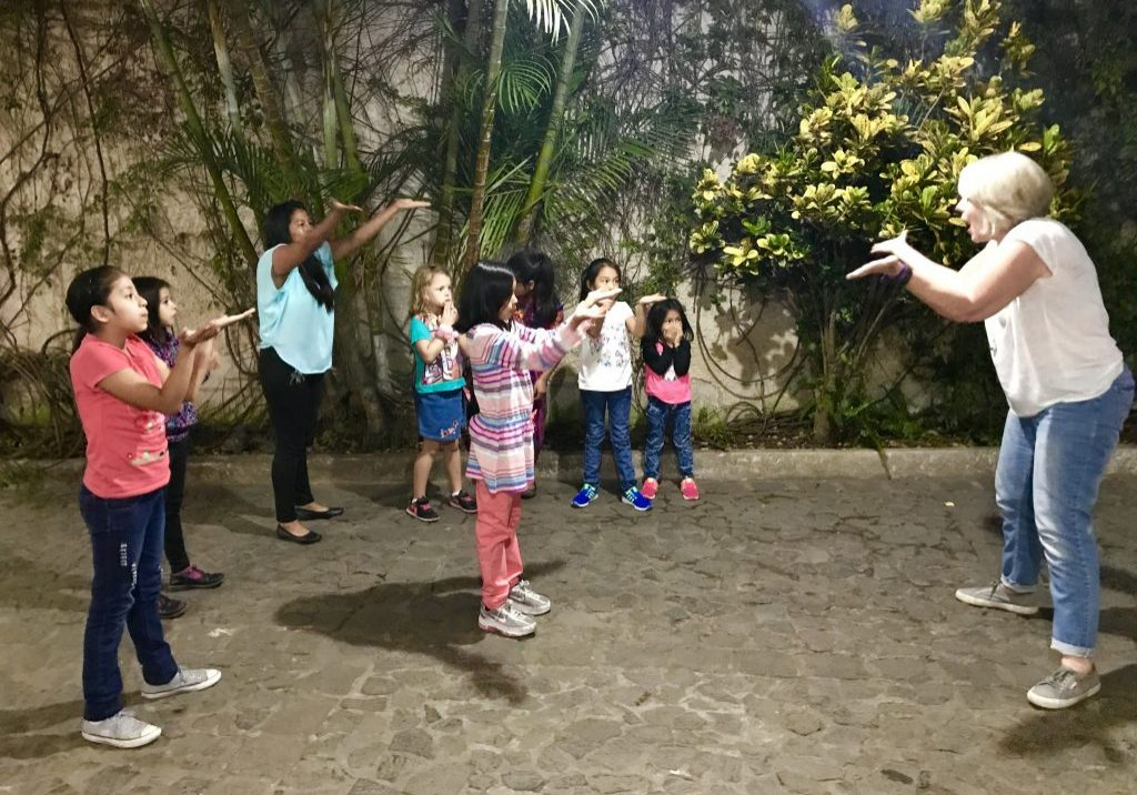 Elizabeth Cole taught Nia, a cardio-dance workout method to the girls in Proyecto Capaz.