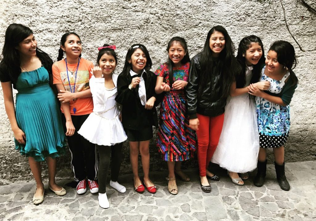 Fifth grade girls from Proyecto Capaz participate in International Women's Day on March 8, 2017.