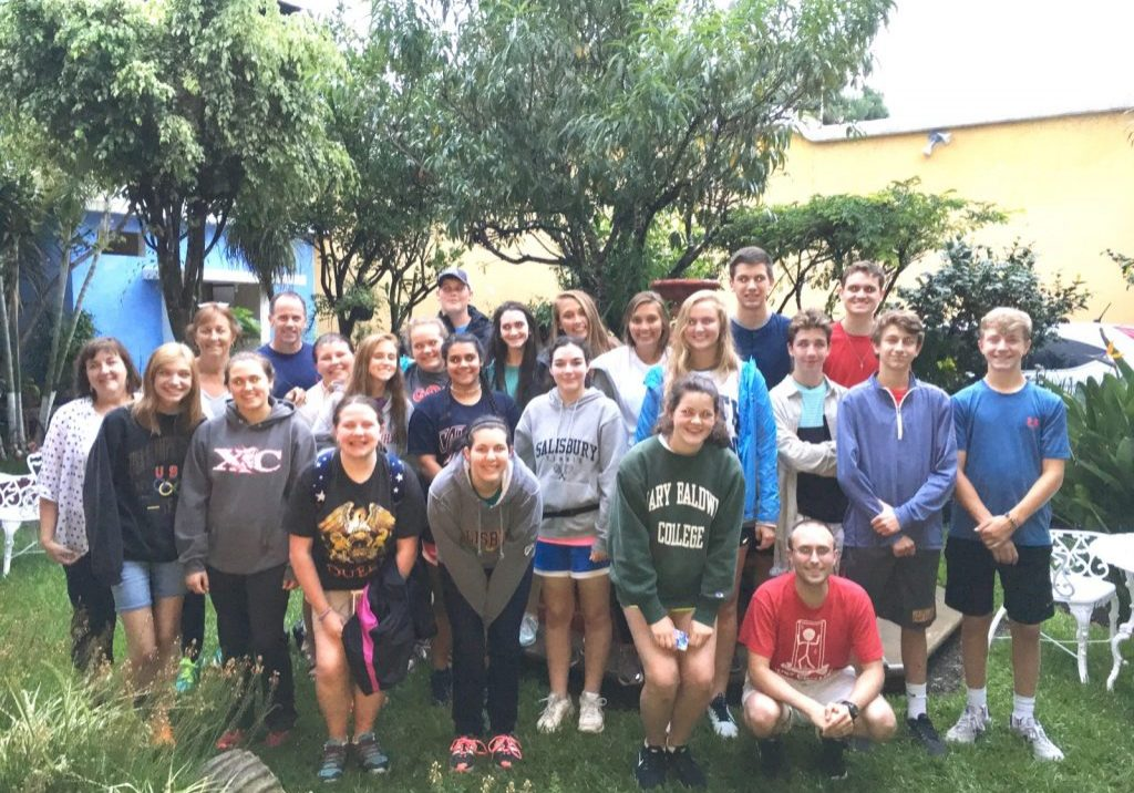 On Sunday, July 2, 20 high school students and five chaperones from St. John's Lutheran Church in Salisbury, North Carolina, arrived in Antigua to spend a week serving Escuela Integrada.